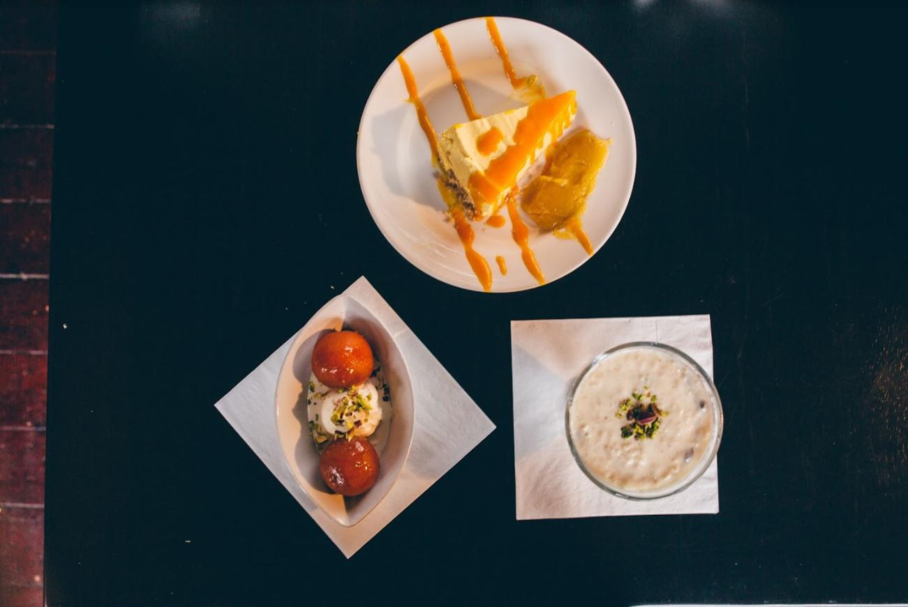 Trio of desserts at the best Indian restaurant Glasgow.